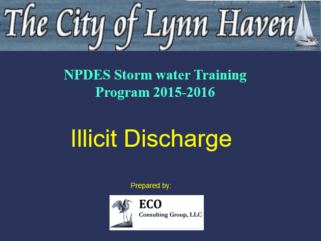 Illicit Discharge Training Presentation (PDF)