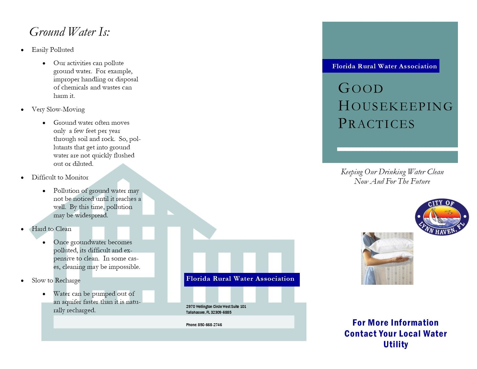 Good Housekeeping Practices Brochure Side 1