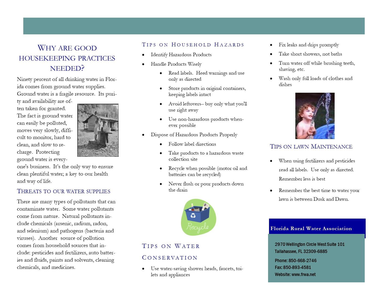 Good Housekeeping Practices Brochure Side 2