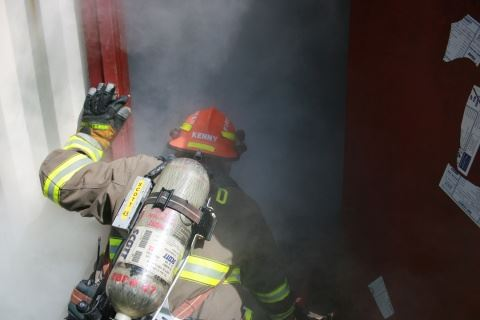 Firefighter with Smoke 2