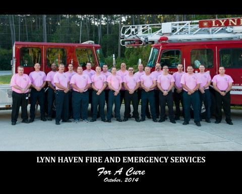 Lynn Haven Fire And Emergency Services For A Cure Group Picture October 2014