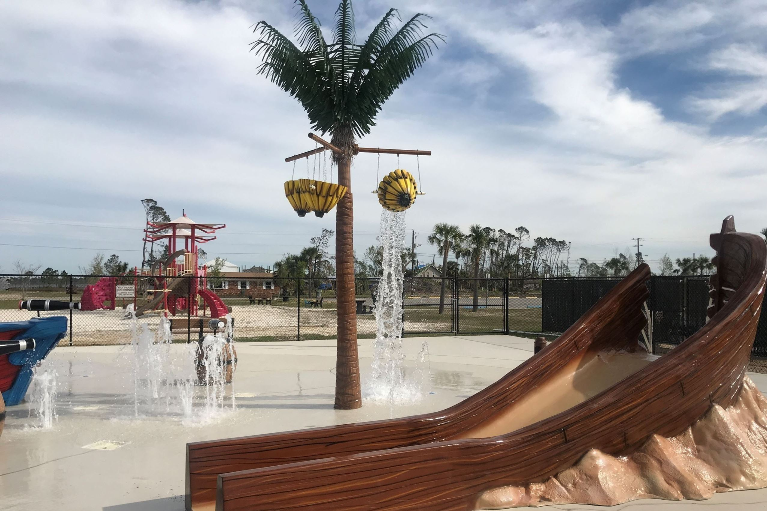 Splash pad at Kinsaul Park, Lynn Haven, FL