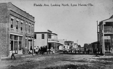 Lynn Haven Main Street in Black and White